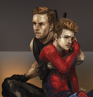 Spideypool by Lhax