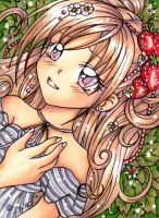 Strawberry ACEO by Mei-yu