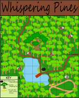 Whispering Pines Map by Kdogfour