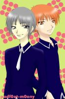 Yuki and Kyo Sohma +Furuba+ by starrywhitewall
