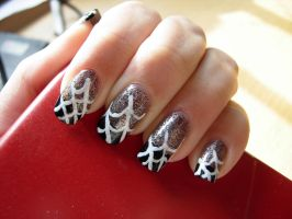 Spiderweb nails by SarahJacky
