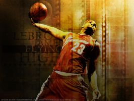 "Lebron James ""Flying High"" by Viper0603"