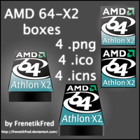 AMD 64-X2 Icon pack by FrenetikFred