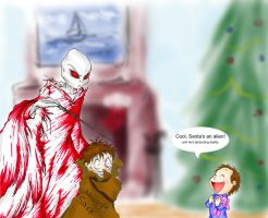 Here comes Santa Claus by caycowa