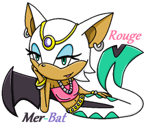 Rouge the Mer-Bat by blueangelrose97