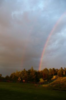 two rainbows by papudrak