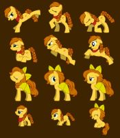 Honey Crisp Pose Sheet by FaithFirefly