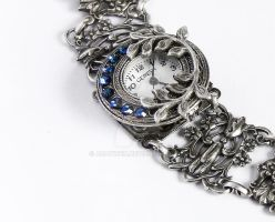 Victorian Style Watch in blue by Aranwen
