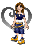 My Kingdom Hearts Destiny Fan Character by Destiny-The-Hedgimon