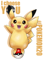 20th Pokemon - I CHOOSE YOU PIKACHU by allocen