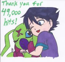 Thanks for 49,000 Hits by swirlheart