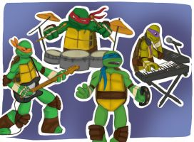 Turtles Band by TheLefthandedLaugh