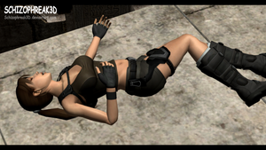 Lara Croft - Unconscious 2 by Schizophreak3D