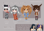 KEMONOMIMI ADOPTABLES | BUNNIES (OPEN) by FrossetHjerte