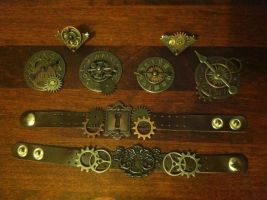 Steampunk Jewelry by JustifiedTaboo