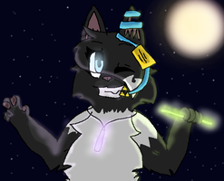 SnowStar and Her Glowsticks by stingfish101