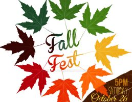 Fall Fest Poster by misskat345