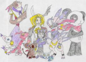 My Digimon team in World Dusk by MiniDragonfly