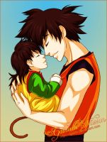 Dragonball Z - Goku and Gohan by Gabbi