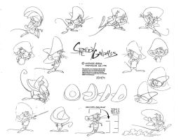 Speedy Gonzales Model Sheet Pt. 3 by guibor