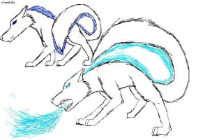 WolfSketch4 Ice Water god by IcexLilly
