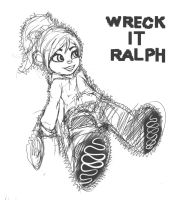Wreck-It Ralph : vanellope (Line) by animator00