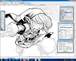 Link Inking process 2 by D-Strada