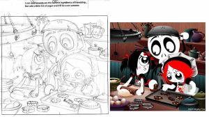 Ruby Gloom- Original sketch 01 by MHSU
