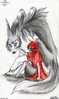 Red heat and her wolf by Lapapolnoch