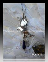 'Mystical thoughts' sterling silver pendant by seralune