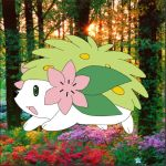 Shaymin in the forest by Chinese-Toad