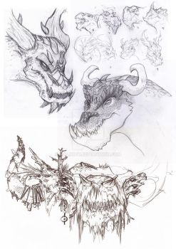 Freestyling, some dragons by Malinidk