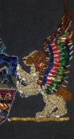 Nan's Beaded Crest Detail #2 by badgersoph