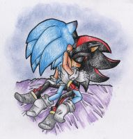 Sonadow pencil coloured - All of you by BlueNeedle-Inu