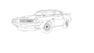 1971 drift dodge challenger form by CrimsonJersey