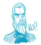 Christopher Lee Sketch by mark33776