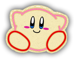 Yarn Kirby Badge by SillyEwe
