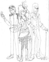 Steampunk Death Eaters by SilverShadow1711