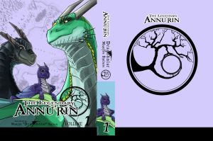 Manga cover, front, spine and back (on-going) by Dragonniar