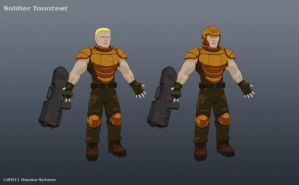 Male Soldier Toontest by hauke3000