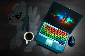 Rainbow Dash laptop wallpaper by ryuuichi-shasame