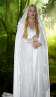 Galadriel with Cloak and BG by avi17
