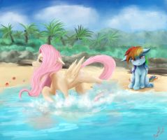 At The Beach by Miokomata