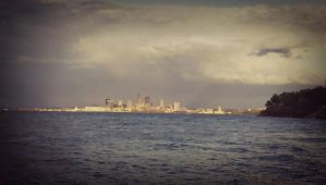 Cleveland Skyline by JuliexSuicide