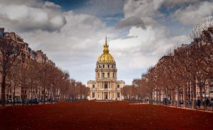 Paris red invalides by klefer