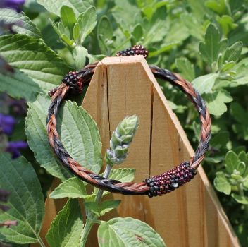 Adjustable Horsehair Bracelet - Buck and Lucy by TarpanBeadworks