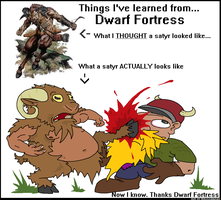 Things I've learned from Dwarf Fortress: The Satyr by kruggsmash