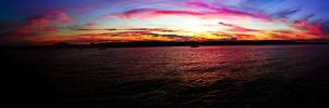 Sunset over the hudson by kokokringl