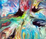 Colourful Fluid Painting 55 by Mark-Chadwick