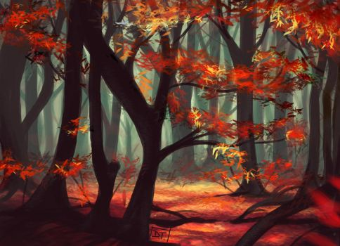 Forest for the Trees by Of-Red-And-Blue
